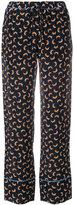 Marni Scrawl print trousers
