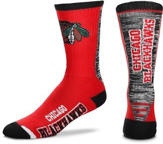 Women's For Bare Feet Chicago Blackhawks Jump Key Crew Socks