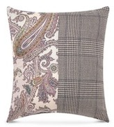 Etro Zanzibar Gambia paisley print Glen plaid patchwork cushion