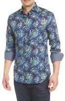 Bugatchi Shaped Fit Birds of Paradise Sport Shirt