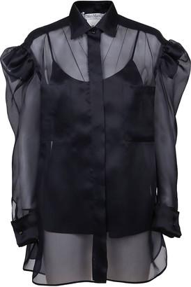 Max Mara Blue Silk Shirt