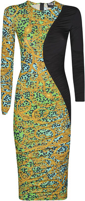 Versace Slim-fit Printed Dress