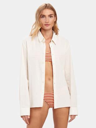 Solid & Striped Linen Button Down Shirt