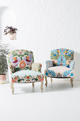Anthropologie Jimena Occasional Chair By in Blue Size ALL