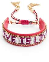 Rebecca Minkoff Love Is Love Seed Bead Bracelet