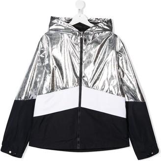 Moncler Enfant TEEN contrast zipped jacket