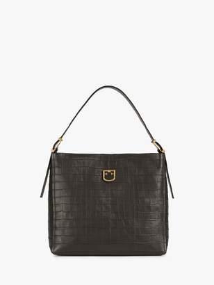 Furla Belvedere Medium Leather Hobo Bag, Asfalto