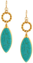 Devon Leigh 24k Gold-Dipped Howlite Drop Earrings, Turquoise