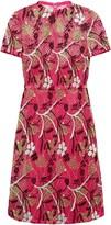 Valentino Cotton-blend Guipure Lace-layered Tulle Mini Dress