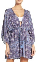 Hinge Women's Royal Tiles Cover-Up Kimono