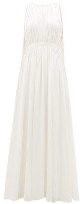 Roksanda Aurelie Cape-back Silk-satin Gown - Ivory