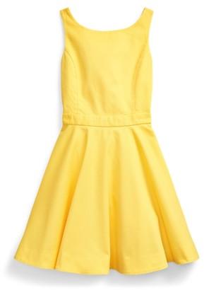 Ralph Lauren Crossback Stretch Cotton Dress