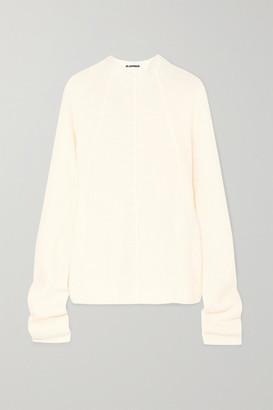 Jil Sander Cashmere, Fleece-wool And Silk-blend Sweater - White
