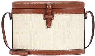 Hunting Season The Round Trunk leather and fique shoulder bag