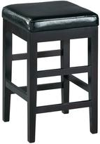 Home Decorators Collection 24 in. Black Cushioned Bar Stool