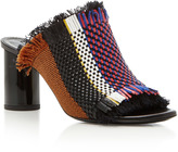 Proenza Schouler Woven Faux Leather Mules