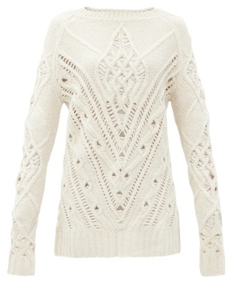 Altuzarra Gwendolyn Ladder And Cable-knit Sweater - Ivory
