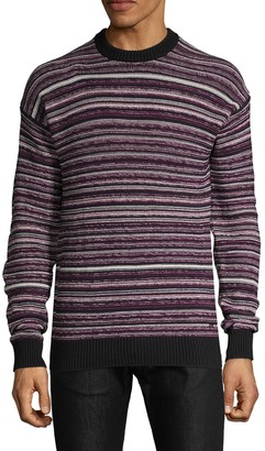 HUGO Striped Cotton-Blend Sweater