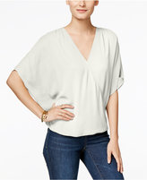 INC International Concepts Petite Butterfly-Sleeve Surplice Top, Only at Macy's