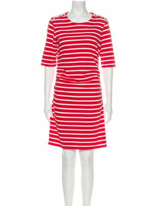 Veronica Beard Striped Knee-Length Dress Orange