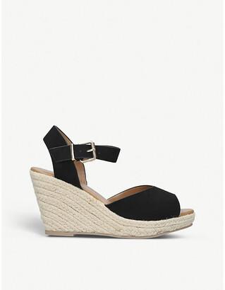 Kg Kurt Geiger Paisley2 espadrille faux-suede wedge sandals