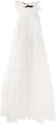 Rochas Ruffle Flared Midi Dress