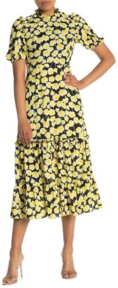 Donna Morgan Georgette Floral Tiered Dress (Petite)
