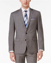 Ryan Seacrest Distinction Men's Slim-Fit Gray Plaid Jacket, Created for Macy's