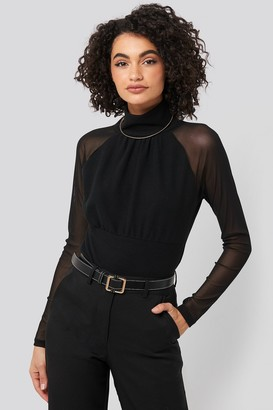 Trendyol Stand Collar Sheer Blouse
