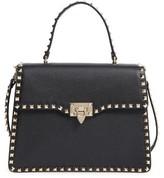 Valentino Rockstud Leather Satchel - Black