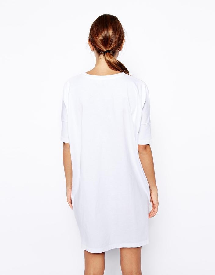 Asos T-Shirt Dress in Girl Scout Print