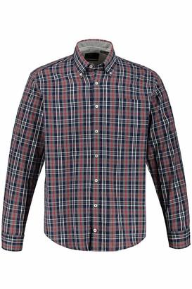 JP 1880 Men's Big & Tall Checked Shirt Navy X-Large 726783 76-XL