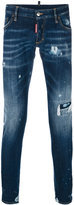 DSQUARED2 distressed Long Clement jeans - men - Cotton/Spandex/Elastane - 50