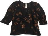 Anne Valerie Hash Black Silk Top for Women
