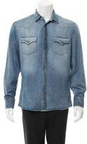 Brunello Cucinelli Leisure-Fit Denim Shirt w/ Tags