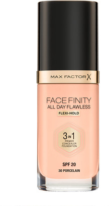 Max Factor Face Finity All Day Flawless 3 In 1 Foundation 30Ml 30 Porcelain (Cool)