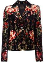 Roberto Cavalli velvet floral blazer - women - Silk/Viscose - 38