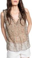 Zadig & Voltaire Thym Sheer Silk Top