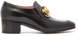 Gucci Ebal Horsebit Leather Loafers - Black