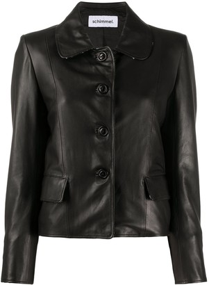 Sylvie Schimmel Single-Breasted Leather Jacket