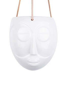 The Sue Parkinson Home Collection - Hanging Mask Face Plant Pot In White