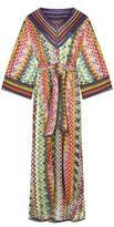 Missoni Glitter Geometric Print Kaftan Gown