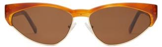 Cat Eye Andy Wolf - Volta Cat-eye Acetate Sunglasses - Womens - Tortoiseshell
