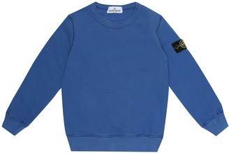 Stone Island Junior Logo cotton-jersey sweatshirt