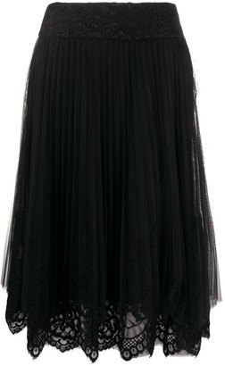 Ermanno Scervino Tulle And Lace Overlay Skirt