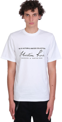 Martine Rose Classic Short T-shirt In White Cotton