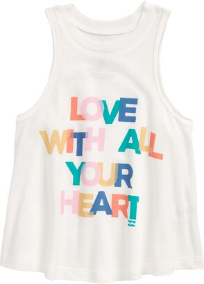 Billabong Kids' All Your Heart Graphic Tank