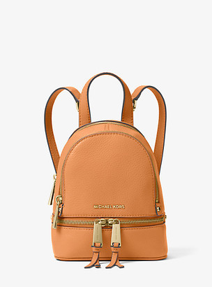 Michael Kors Rhea Mini Leather Backpack