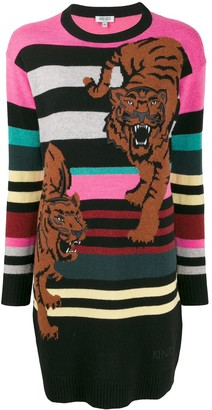 Kenzo double tiger sweater dress