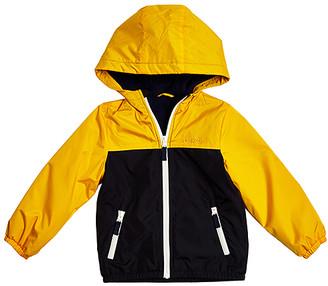 Osh Kosh Boys' Non-Denim Casual Jackets CURRY - Curry & Black Color Block Raincoat - Infant & Toddler